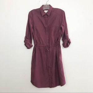 LOFT Lounge Drawstring Shirt Dress Size Small